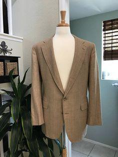 Corbin Tan / Beige Wool Men's Jacket  Sports Coat