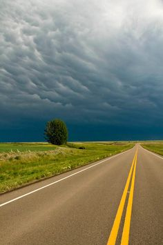 Highway 4 near Cadillac, Saskatchewan, Canada