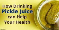 Drinking pickle juice may take the sting out of a sunburn, relieve muscle cramps, improve athletic performance, help control blood sugar and cure hangovers. http://articles.mercola.com/sites/articles/archive/2016/10/10/drinking-pickle-juice.aspx