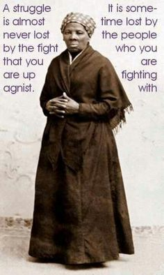 Harriet Tubman brought slaves out of captivity.Time to bring people out of Human Trafficking,Drugs ect