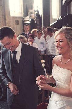 smile #wedding #bride #groom #church #france #lille