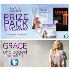 Just A Little Creativity: Grace Unplugged Prize Pack {Giveaway} #GraceUnplugged
