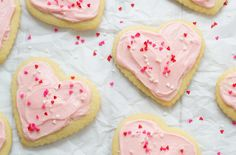 14 Favorite Valentine's Day Desserts: Classic Sugar Cookies with Cream Cheese Frosting