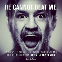 Conor McGregor UNBEATABLE Motivational Quote : if you love #MMA, you'll love the #UFC & #MixedMartialArts inspired fashion at CageCult: http://cagecult.com/mma