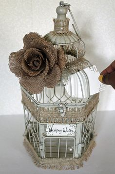 Wedding Birdcage Centerpiece or Wishing Well by DazzlingGRACE