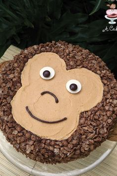 Peanut Butter chocolate monkey cake.16 Impressive (but Not Impossible) Birthday Cake Recipes for Your Kid's Party #purewow #food #party #family #recipe #cake #children #dessert #kidsparty #kidsdesserts #birthdayparties #peanutcutter #chocolatecake #monkeycake #birthdaycakes