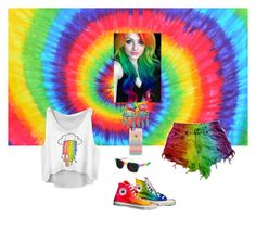 """RAINBOW"" by kittiekait ❤ liked on Polyvore featuring Casetify and Converse"