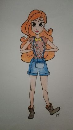 lady orange hair Princess Zelda, Disney Princess, Disney Characters, Fictional Characters, Sketches, Orange, Lady, Drawings, Sketch