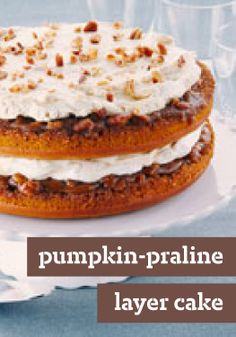 ... touch to this spicy pumpkin layer dessert with cream cheese frosting