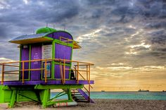 South Beach Dawn Fine Art Print - William Wetmore  Gorgeous! Looks like a painting!