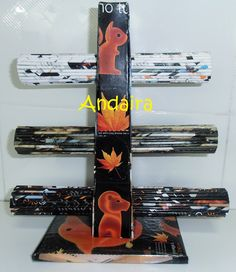 Andairadas: Organizador de pulseras hechos con rollitos de papel Con LINK a TUTORIAL