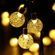 30 LED Guirlande lumineuse solaire Globe,Blanc Chaud extérieure boules Jardin de Uping: Amazon.fr: Luminaires et Eclairage