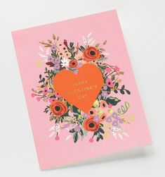 Blooming Heart Valentine Available as a Single Folded Card or Boxed Set of 8