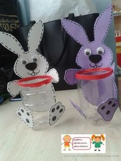 Preschool activities are waiting for you. Bunny Crafts, Easter Crafts For Kids, Diy For Kids, Art N Craft, Craft Stick Crafts, Preschool Activities, Foam Crafts, Paper Crafts, Diy Niños Manualidades