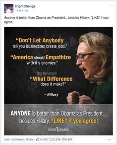 Anyone is better than obama as President.besides hillary! Don't Let, Let It Be, Political Ads, Obama, Presidents, Told You So, Politics, Good Things, America