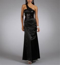 Selima-Long Black Prom Dresses