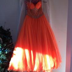 "Selling this ""Orange prom dress"" in my Poshmark closet! My username is: alex_xo13. #shopmycloset #poshmark #fashion #shopping #style #forsale #Jovani #Dresses & Skirts"