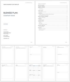 Free Simple Business Plan Templates | Smartsheet Basic Business Plan, Startup Business Plan Template, Business Plan Outline, Simple Business Plan Template, Creating A Business Plan, Small Business Start Up, Business Planner, Business Templates, Table Of Contents Template