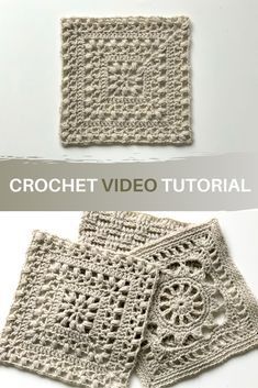 'Tulips from Holland' square 🌷 Free crochet video tutorial - Learn how to make this beautiful afghan square featuring the tulip stitch. Free crochet pattern on - Crochet Pattern Free, Crochet Motifs, Granny Square Crochet Pattern, Crochet Blanket Patterns, Crochet Stitches, Knitting Patterns, Afghan Patterns, Crochet Blankets, Tutorial Crochet