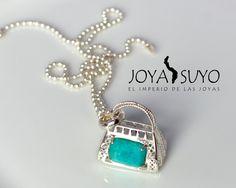 Dije viajero con piedra amazonita 8.9gr S/. 115  www.joyasuyo.com