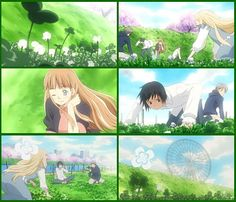 """Everybody looks for a four leaf clover together... """"Honey and Clover"""""""