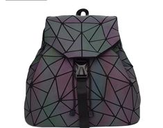 af7d5aa0a8fe Big Discount Bao Women Backpack Luminous Drawstring Female Daily Backpack  Geometry Backpacks Folding School Bags For Teenage Girls Mochila