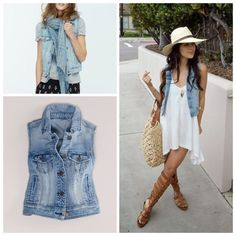 NWOT Denim Vest New Without Tags! Never worn. Super cute for spring and summer! Could also fit a small American Eagle Outfitters Tops