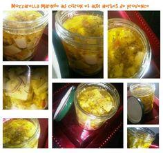 Mozzarella marinée au citron et aux herbes de provence