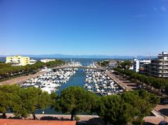 the old charm of a downtown marina in Lignano, Italy ...where the sea meets the mountains.