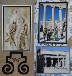 Athen's Acropolis Travel scrapbook page with a Greek Swirl from Cricut's Picturesque
