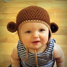 Free pdf dowload for this hat here Make this adorable monkey hat in any size (newborn to adult) Basic Needs for Pattern: Worsted weight Cotton and I hook Here is the pattern (below) just in-case the free pdf download isn't working for you Copyright Notice: You have permission to sell the finished products from...