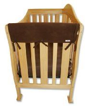 Trend-Lab Crib Wrap Rail Guard Set of Two Short Rail Guards, Brown Fleece from Trend Lab at the Best Baby Safety Shop
