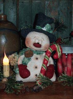 PatternMart.com ::. PatternMart: Primitive Snowman Christmas Frosty Doll Pattern PM541