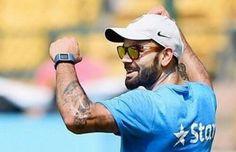 That's how we do it guys #celebration #VK #Virat #Kohli #india #cricketer #cricket #ground