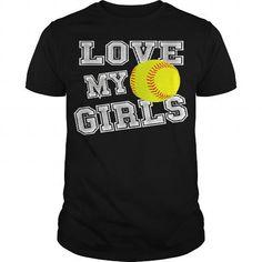 Womens I Love My Girls Cute Softball Mama Shirt- Softball Mom Tee Black Women 1 Mama Shirt, T Shirt, I Love Girls, My Love, Shirts For Girls, Girl Shirts, Softball Mom, My Girl, Black Women