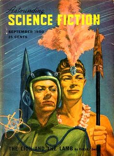Astounding Science Fiction [v46 #1, September 1950] (25¢, 164pp, digest, cover by Walt Miller)