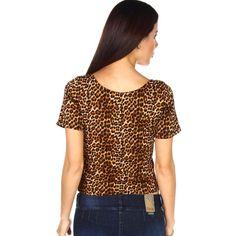 Compra GIGI RIVA Polo Crop Top animal print - marrón online ✓ Encuentra los mejores productos Polos Mujer GIGI RIVA