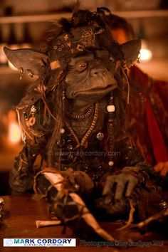 Goblin pirate puppet made for Mythlore LARP (photo courtesy and © Roy Smallpage)