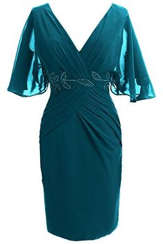 Sunvary Woman Sheath V Neck Mother of the Bride Dresses Short Sleeves Prom Cocktail Gowns Bridesmaid Dress Chiffon US Size 2- Teal Sunvary http://www.amazon.com/dp/B00MG7BUSG/ref=cm_sw_r_pi_dp_MJqXub0XNKMWE