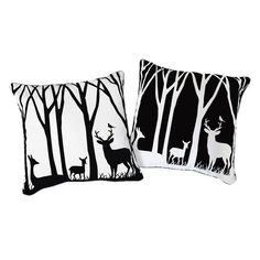 Day & Night Forest Pillow