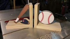 BaseballBallBaseball Hat Baseball Bat Baseball Bookends by Ntoys $29.99 #baseball #bostonredsox #Boston #sox #redsox