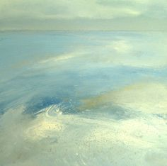 "Saatchi Online Artist: Nelly Van Nieuwenhuijzen; Acrylic 2013 Painting ""The sea touching the coast"""
