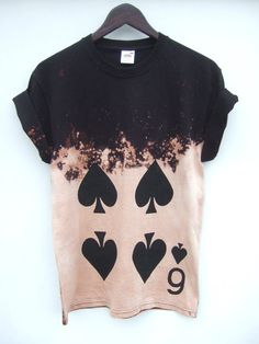 6 of Spades Acid Wash Shirt 2 weeks by tappingtonandwish on Etsy