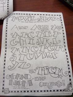 caligrafia, arte y diseño: Asignatura de caligrafía expresiva. Decorando e iluminado la letra Movie start.