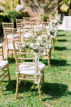outdoor ceremony in tuscan garden, florence hills Budget Wedding, Destination Wedding, Tuscan Garden, Tuscan Wedding, Wedding Inspiration, Wedding Ideas, Outdoor Chairs, Outdoor Decor, Wedding Story