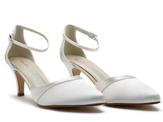 A timeless ankle strap and a refined satin overlay wedding shoe. Our Bespoke Colouring service also means you can have your shoes dyed. Wedding Shoes Heels, Bridal Shoes, Mother Of The Bride Shoes, How To Dye Shoes, Ivory Shoes, Shoe Crafts, Ankle Strap Shoes, Satin, Your Shoes