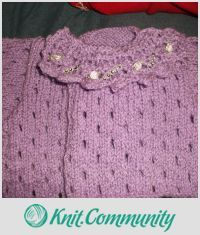 EDITOR'S CHOICE (03/18/2016) Baby Jacket by mobilecrafts View details here: http://knit.community/creations/1218-baby-jacket