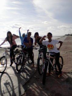 #sepeda #pantai #friends #seruu