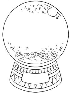 create your own snow globe coloring page
