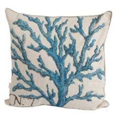 Blue Coral Pillow